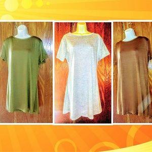 Plus Size Autumn Tones T Shirt Dress